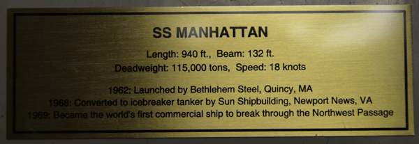 Large Scale Model of the Oil Tanker Manhattan