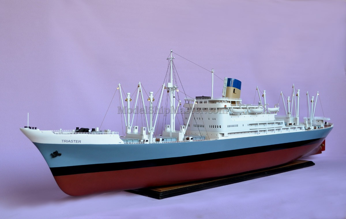 Model Ship of the General Cargo Ship TRIASTER