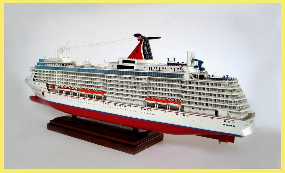 Carnival Pride Cruise Ship Model