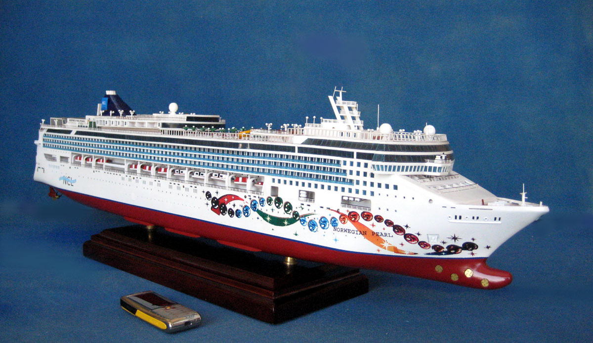 Model Of The NCL Norwegian Pearl Cruise Ship