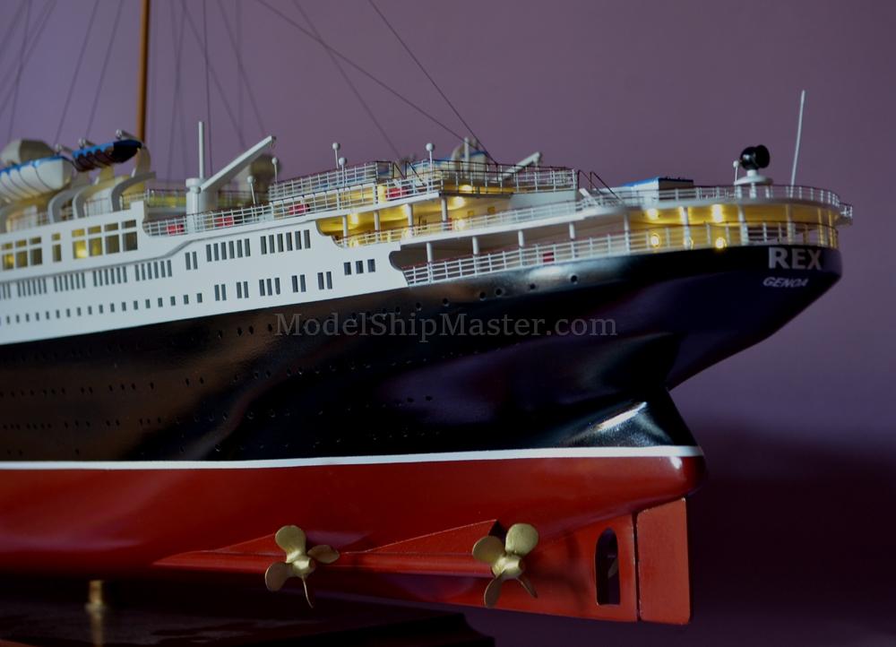Italian Ocean Liner Ss Rex Model