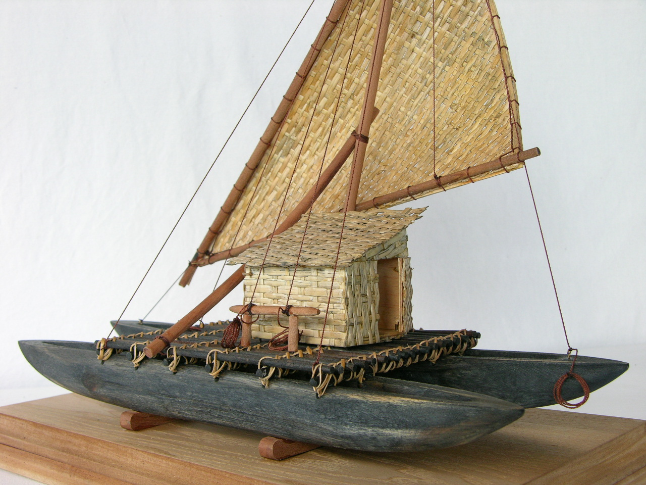 This Hawaiian catamaran