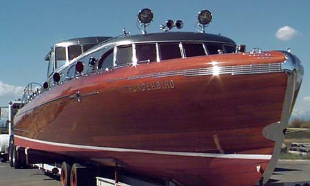 Classic wooden boat models
