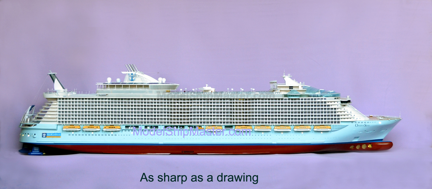 Remote Control Cruise Ship Model Oasis Of The Seas - The oasis cruise ship
