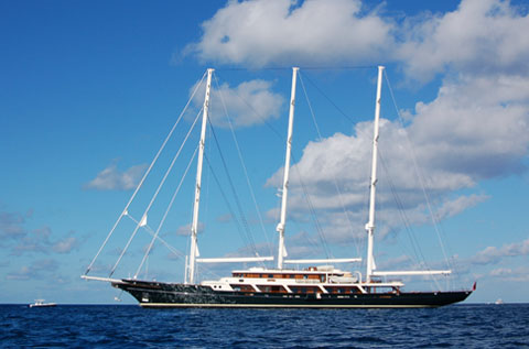 At 305 feet long, it is one of the largest private sailing yacht in the ...
