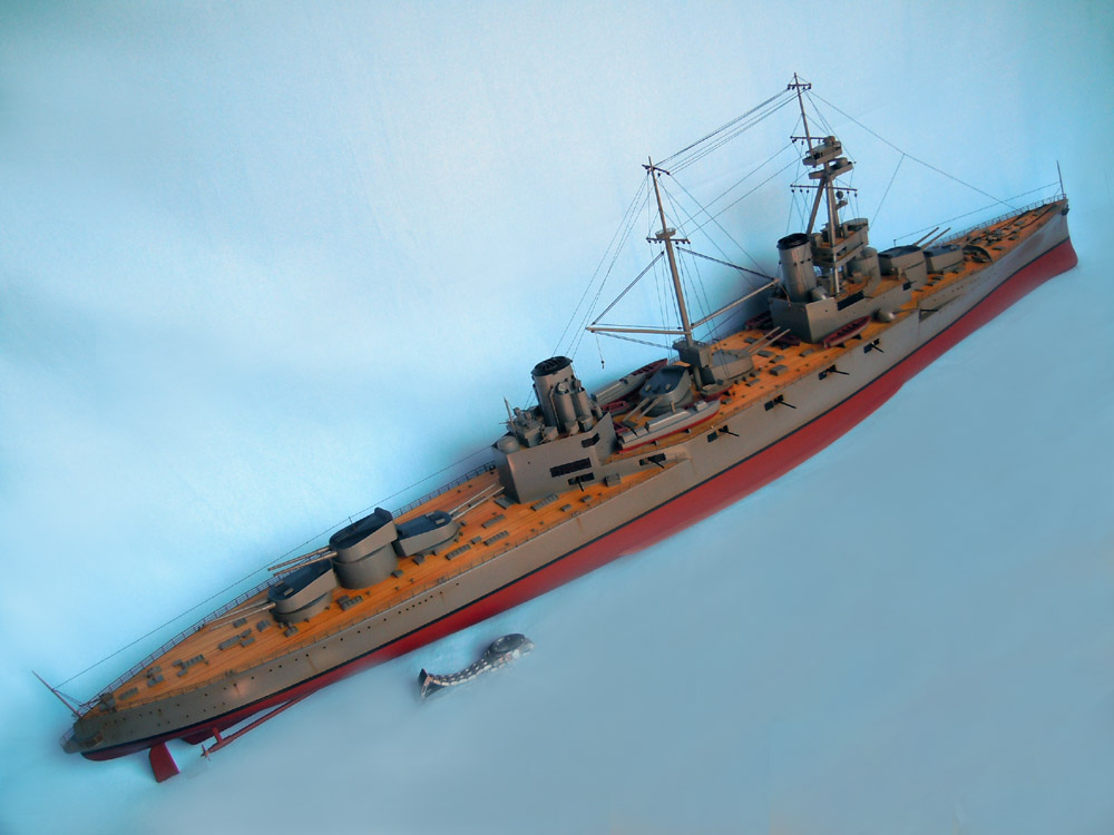 Large Model Of The Wwi Battleship Hms Agincourt