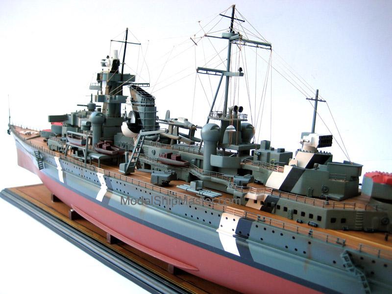 Large Model Of The Prinz Eugen Heavy Cruiser