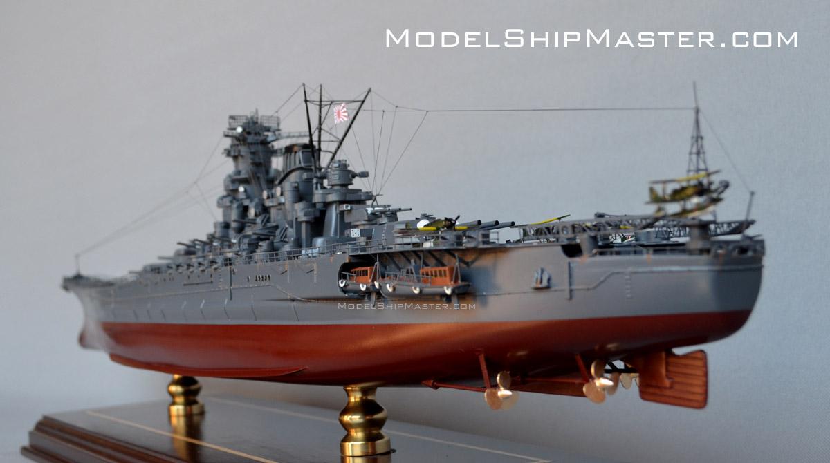 Battleship Yamato, a large, detailed model of the world's