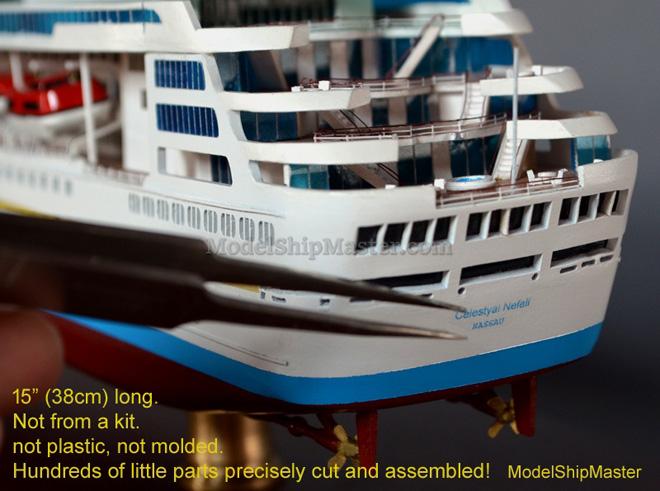 CELESTYAL NEFELI Cruise Ship Replica Model - Cruise ship model kits