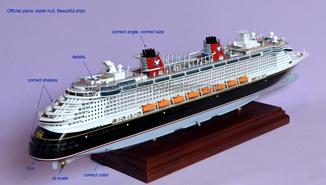 Disney Dream Cruise Ship Model