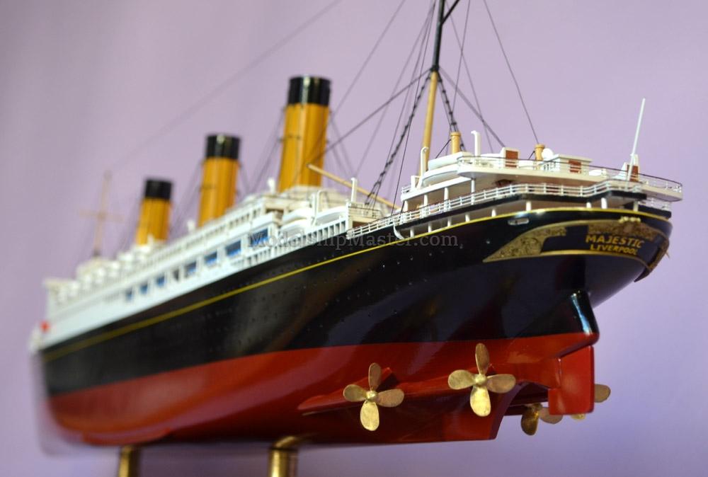 Rms Majestic Ocean Liner Model Ship