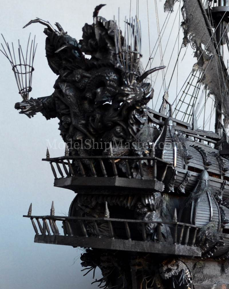 Flying Dutchman Ghost Pirate Ship Model
