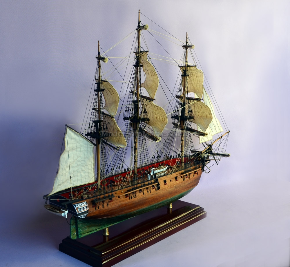 """This 33"""" long X 27"""" tall x 11"""" wide model of the USS WASP features: -  Superior hollow hull construction technique - Billowing sails, a  ModelShipMaster's ..."""